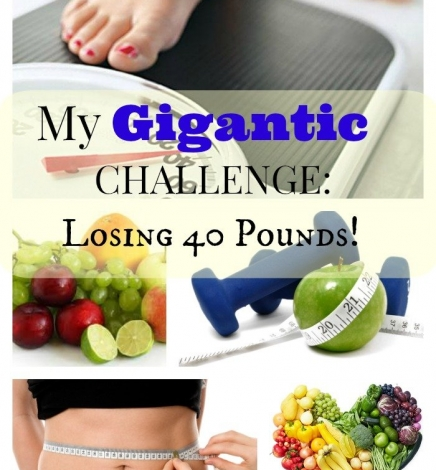 My Gigantic Challenge: I Need to Lose 40 lbs.