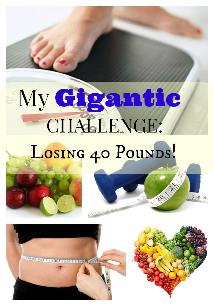 My Gigantic Challenge Losing 40 Pounds