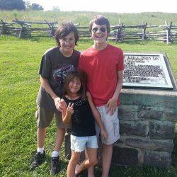 Kids at Bull Run Memorial