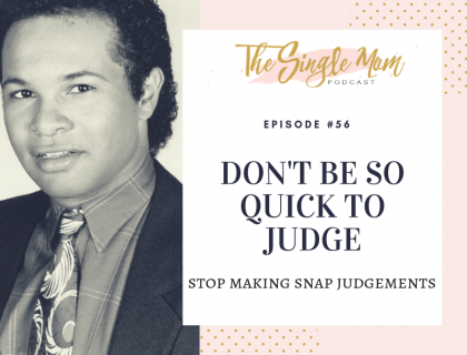Making snap judgments about people, today's podcast discusses why we should be better.
