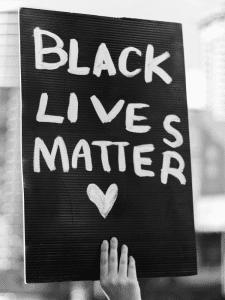 Black Lives Matter Sign - The Single Mom Blog - Racism